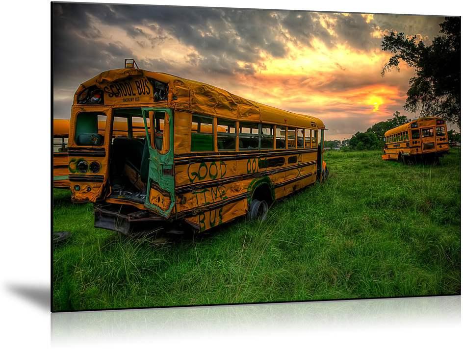 un bus rouillé