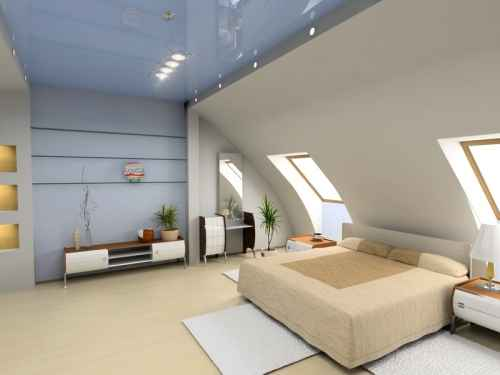 Combles aménagés en chambre design