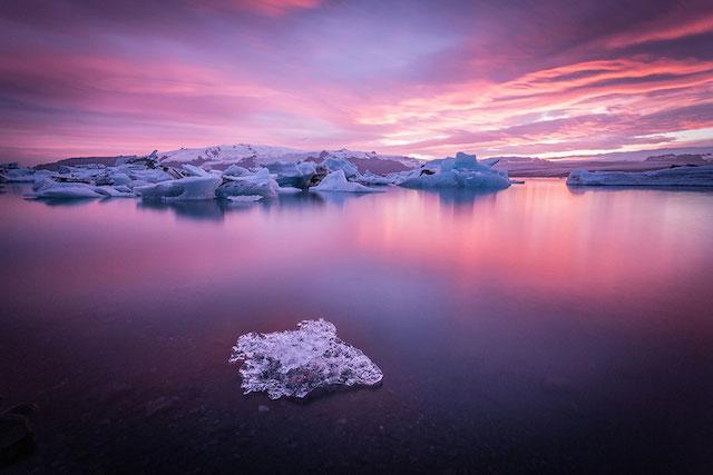 Jokulsarlon Glaier Lagoon, Islande