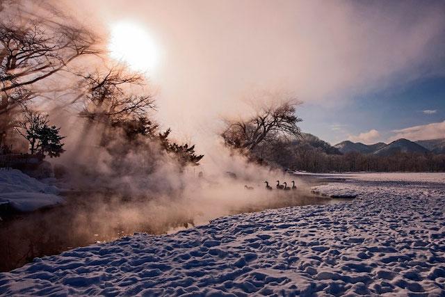 Lake Kussharo, Hokkaido, Japon