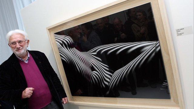 Au musée Cocteau de Menton vernissage de l'exposition de photographies en noir et blanc signées Lucien Clergue le 2 février 2013