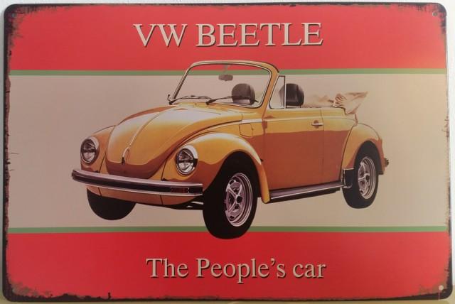 Plaque en métal originale : Volkswagen