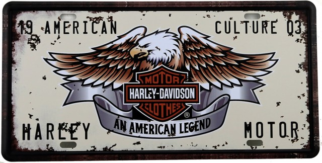 Plaque de collection : Harley Davidson
