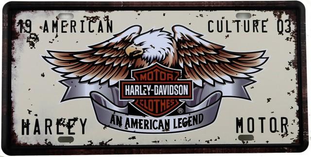 Plaque de collection : Harley Davidson