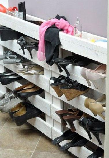 meuble à chaussure en palette