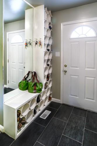 meuble à chaussure en tuyau PVC