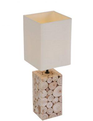 Lampe-de-table-en-bois-et-abat-jour-blanc