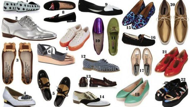 modèles de chaussures plates