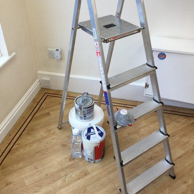 bonne préparation outils peinture
