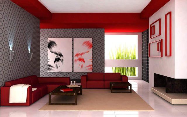 peinture brillante dans sa décoration intérieure
